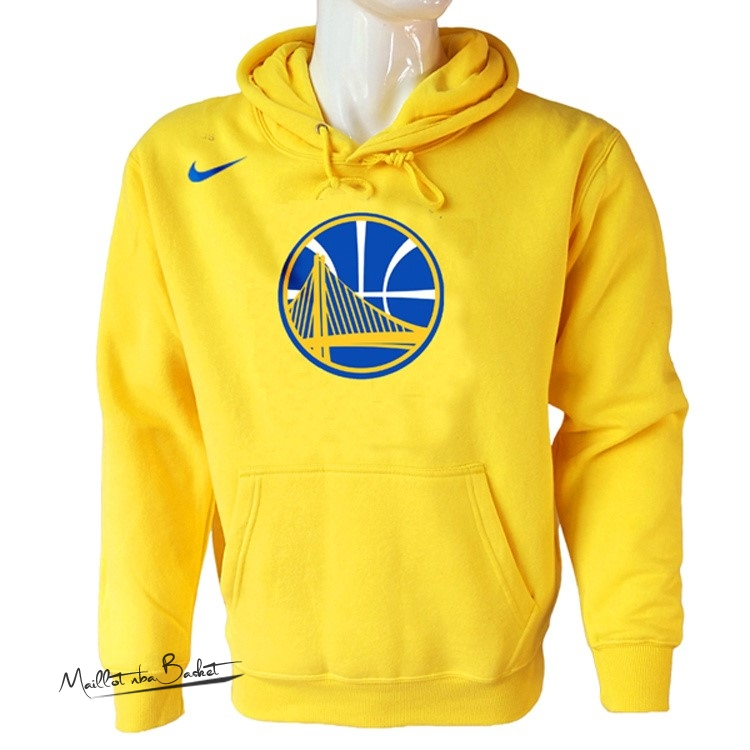 Hoodies NBA Golden State Warriors Nike Jaune