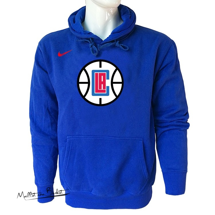 Hoodies NBA Los Angeles Clippers Nike Bleu