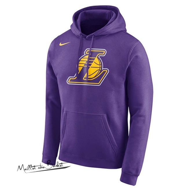 Hoodies NBA Los Angeles Lakers Nike Pupura