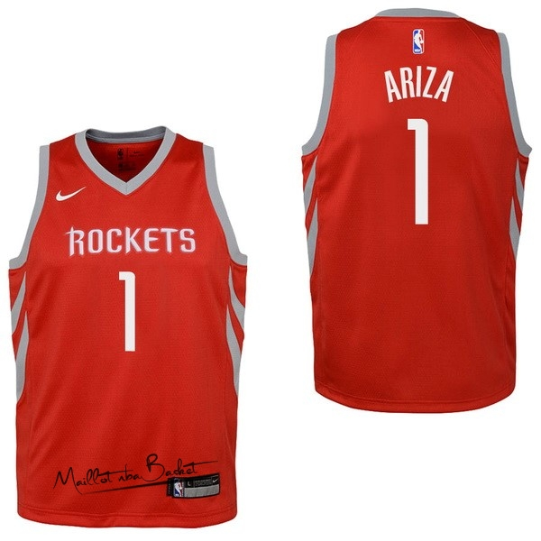 Maillot NBA Enfant Houston Rockets NO.1 Trevor Ariza Rouge Icon