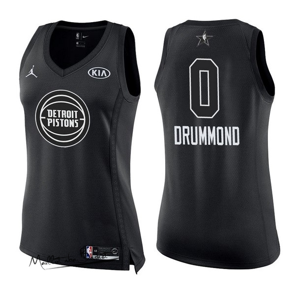 Maillot NBA Femme 2018 All Star NO.0 Andre Drummond Noir