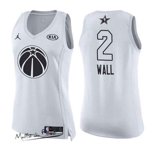 Maillot NBA Femme 2018 All Star NO.2 John Wall Blanc