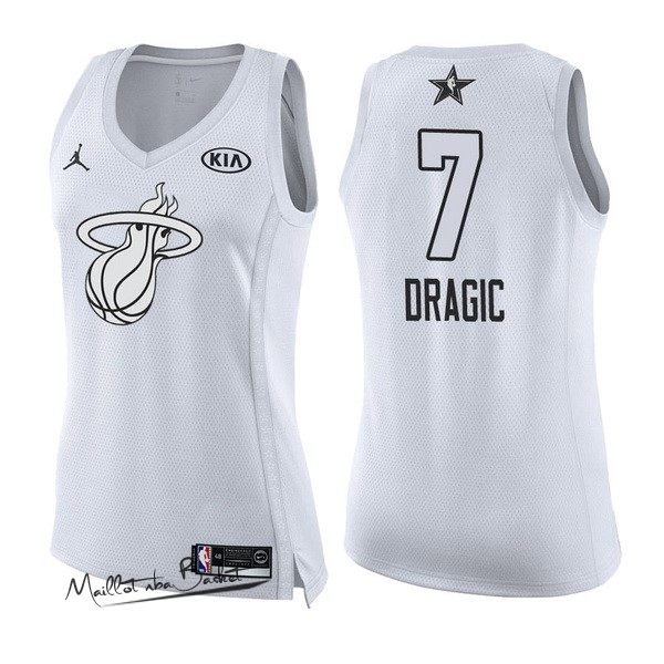 Maillot NBA Femme 2018 All Star NO.7 Goran Dragic Blanc