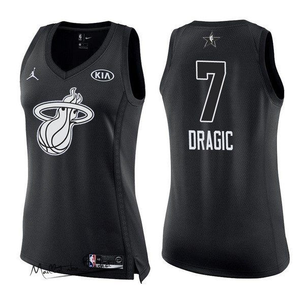 Maillot NBA Femme 2018 All Star NO.7 Goran Dragic Noir