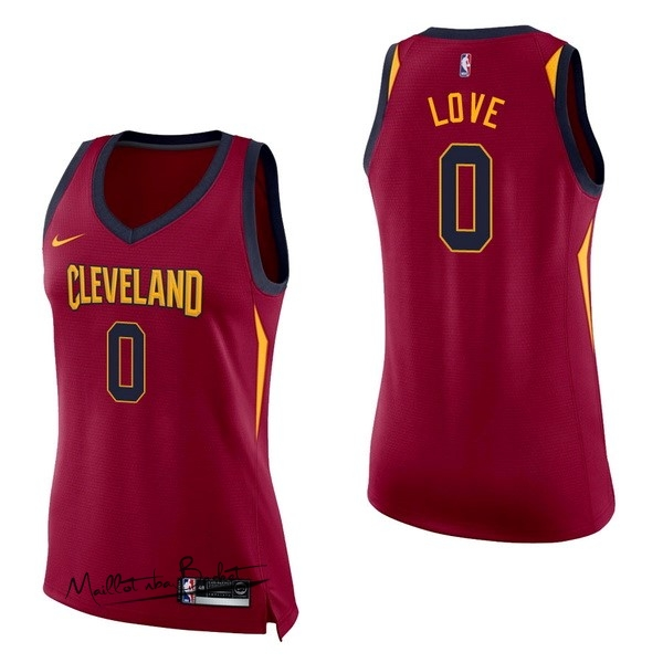 Maillot NBA Femme Cleveland Cavaliers NO.0 Kevin Love Rouge Icon