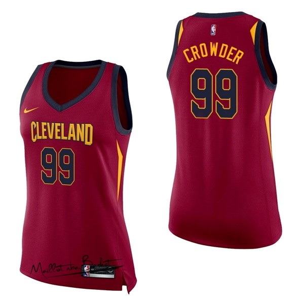 Maillot NBA Femme Cleveland Cavaliers NO.99 Jae Crowder Rouge Icon