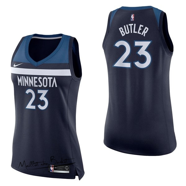 Maillot NBA Femme Minnesota Timberwolves NO.23 Jimmy Butler Marine Icon