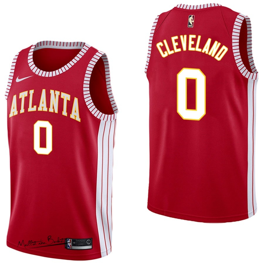 Maillot NBA Nike Atlanta Hawks NO.0 Antonius Cleveland Retro Rouge