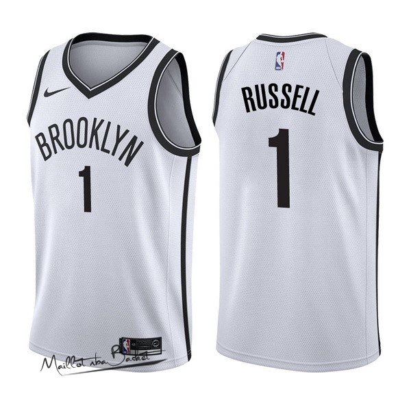 Maillot NBA Nike Brooklyn Nets NO.1 D'Angelo Russell Blanc Association