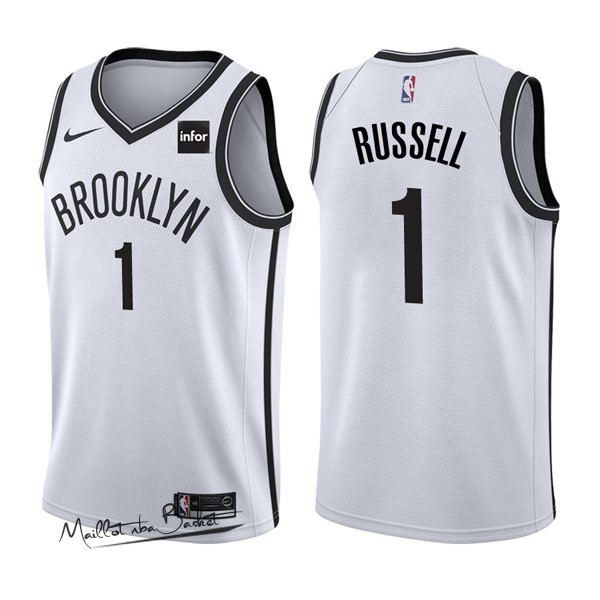 Maillot NBA Nike Brooklyn Nets NO.1 D'Angelo Russell Blanc