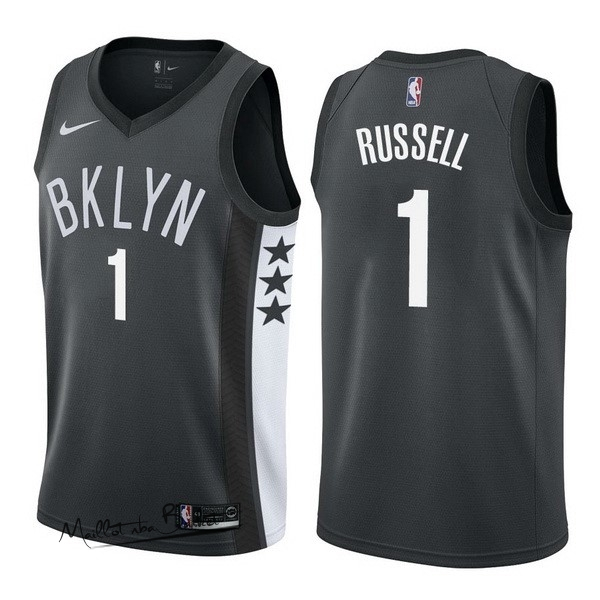 Maillot NBA Nike Brooklyn Nets NO.1 D'Angelo Russell Noir Statement