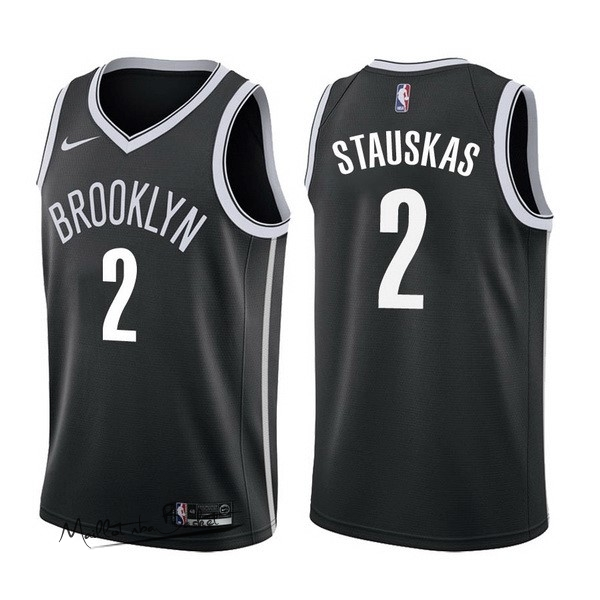 Maillot NBA Nike Brooklyn Nets NO.2 Akil Mitchell Noir Icon