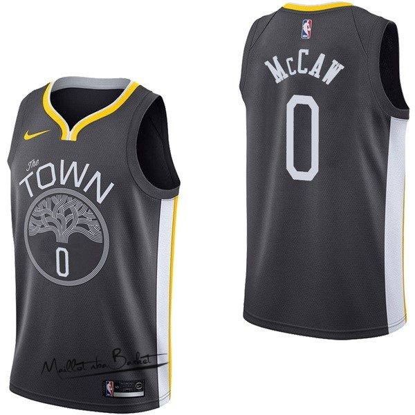 Maillot NBA Nike Golden State Warriors NO.0 Patrick McCaw Noir Statement