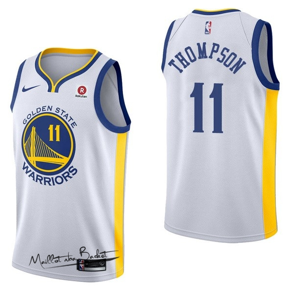 Maillot NBA Nike Golden State Warriors NO.11 Klay Thompson Blanc