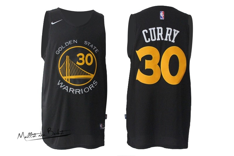 Maillot NBA Nike Golden State Warriors NO.30 Stephen Curry Tode Noir