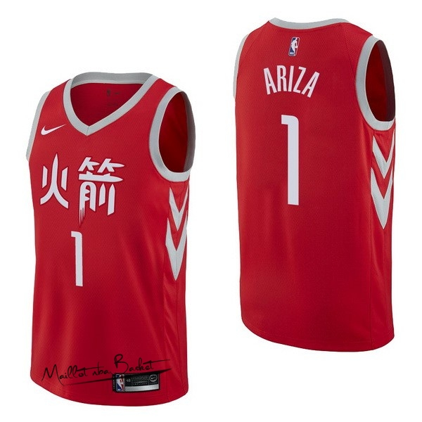 Maillot NBA Nike Houston Rockets NO.1 Trevor Ariza Nike Rouge Ville