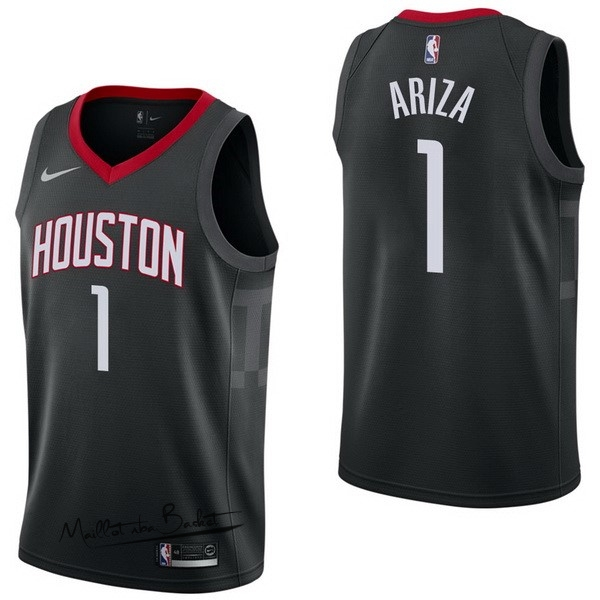 Maillot NBA Nike Houston Rockets NO.1 Trevor Ariza Noir Statement