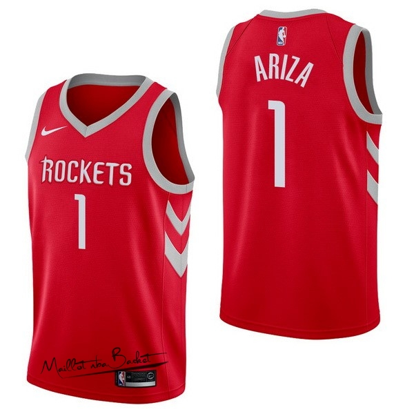 Maillot NBA Nike Houston Rockets NO.1 Trevor Ariza Rouge Icon