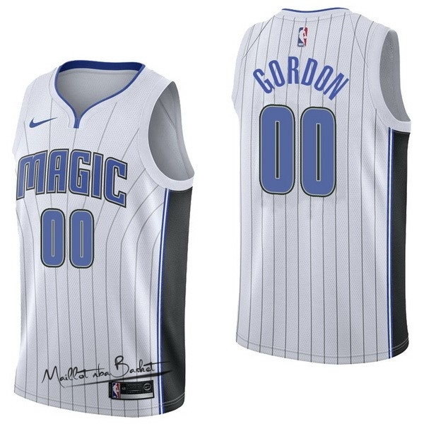 Maillot NBA Nike Orlando Magic NO.0 Aaro Gordon Blanc Association