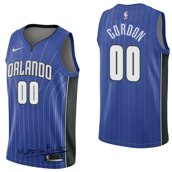 Maillot NBA Nike Orlando Magic NO.0 Aaro Gordon Bleu Icon