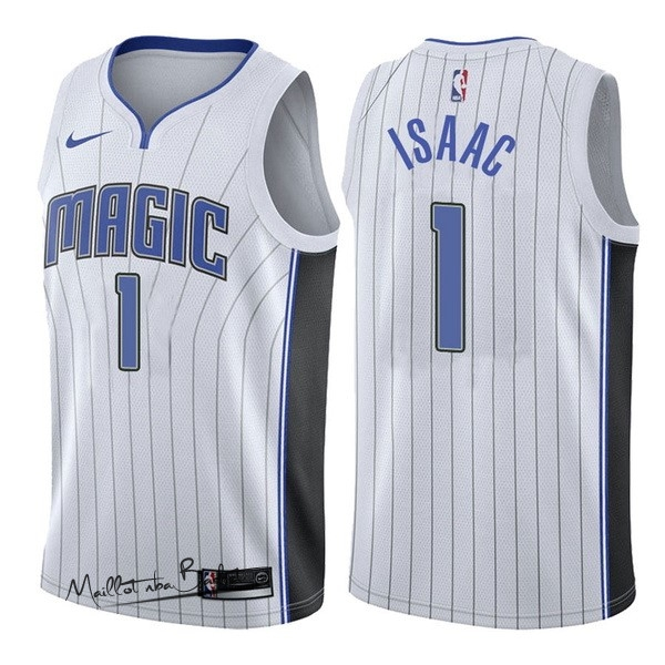 Maillot NBA Nike Orlando Magic NO.1 Jonathan Isaac Blanc Association