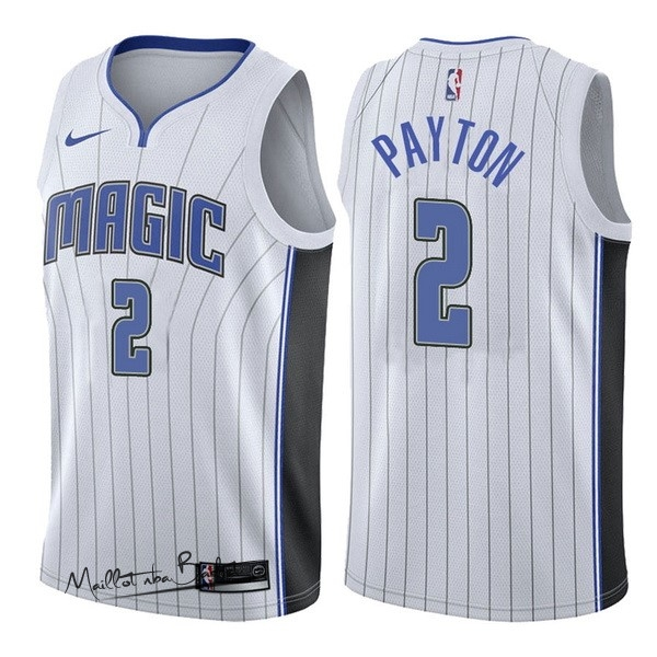 Maillot NBA Nike Orlando Magic NO.2 Elfrid Payton Blanc Association