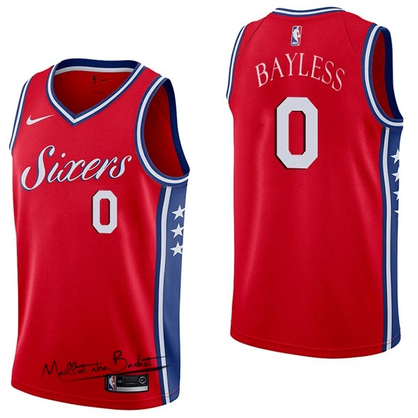 Maillot NBA Nike Philadelphia Sixers NO.0 Jerryd Bayless Rouge Statement