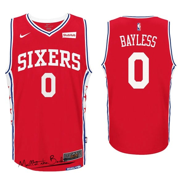 Maillot NBA Nike Philadelphia Sixers NO.0 Jerryd Bayless Rouge