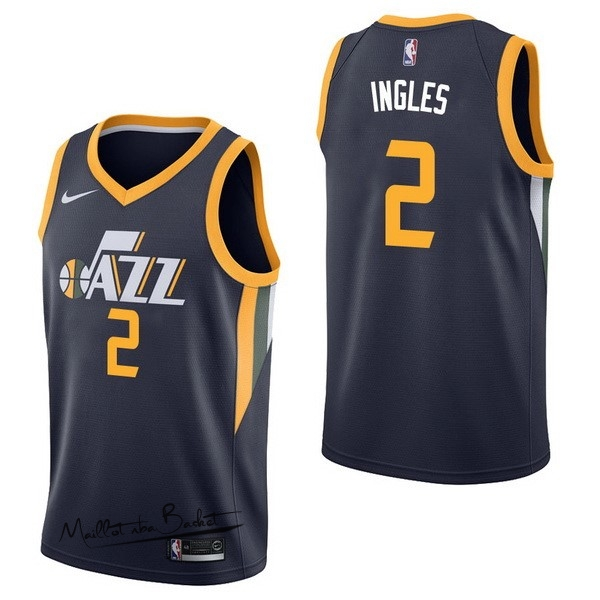 Maillot NBA Nike Utah Jazz NO.2 Joe Ingles Marine Icon