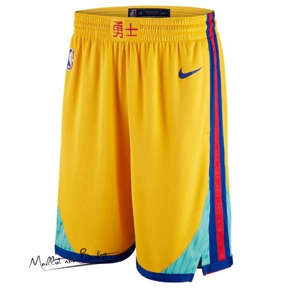 Short Basket Golden State Warriors Jaune Ville
