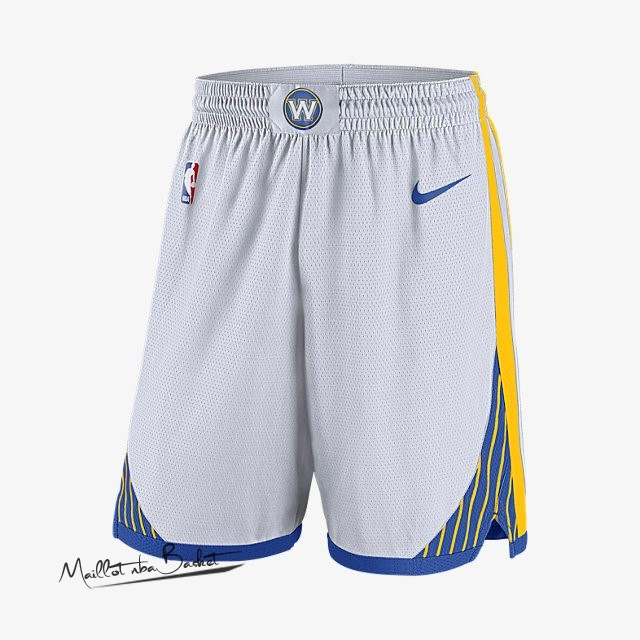 Short Basket Golden State Warriors Nike Blanc