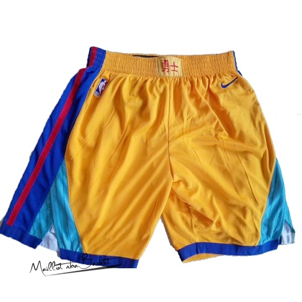 Short Basket Golden State Warriors Nike Jaune