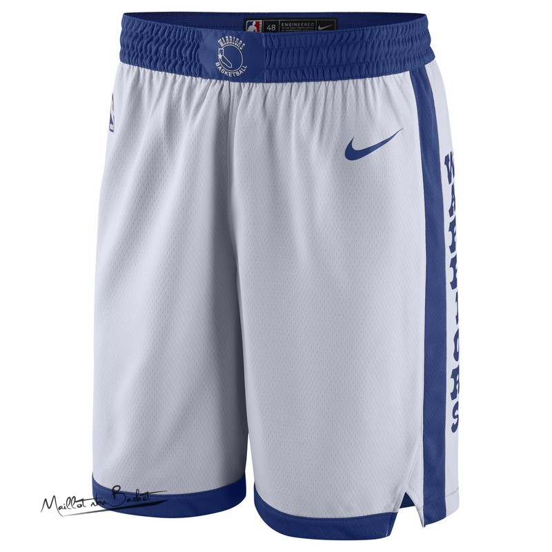 Short Basket Golden State Warriors Nike Retro Blanc