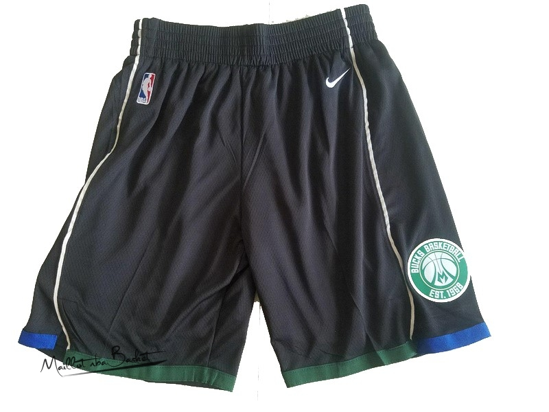 Short Basket Milwaukee Bucks Nike Noir