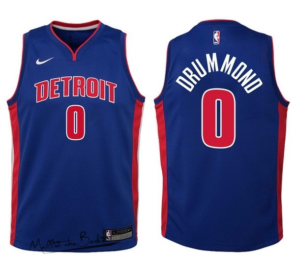 Maillot NBA Enfant Detroit Pistons NO.0 Andre Drummond Bleu Icon