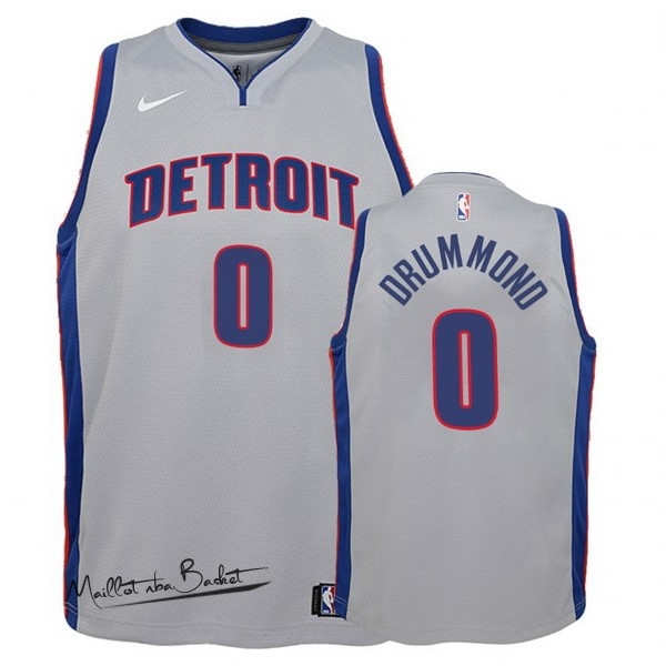 Maillot NBA Enfant Detroit Pistons NO.0 Andre Drummond Gris Statement