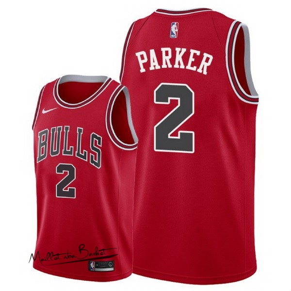Maillot NBA Nike Chicago Bulls NO.2 Jabari Parker Rouge Icon 2018