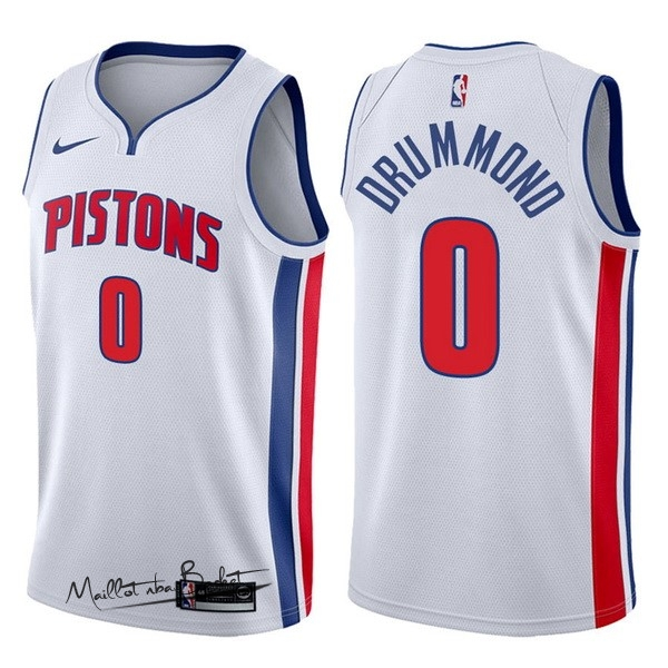 Maillot NBA Nike Detroit Pistons NO.0 Andre Drummond Blanc Association 2017-18