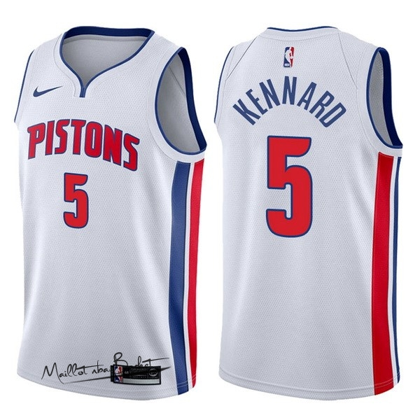 Maillot NBA Nike Detroit Pistons NO.5 Luke Kennard Blanc Association 2017-18
