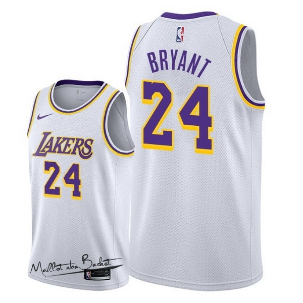 Maillot NBA Nike Los Angeles Lakers NO.24 Kobe Bryant Blanc Association 2018-19
