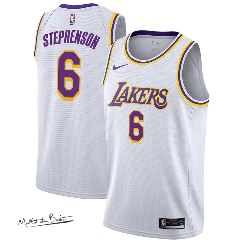 Maillot NBA Nike Los Angeles Lakers NO.6 Lance Stephenson Blanc Association 2018-19