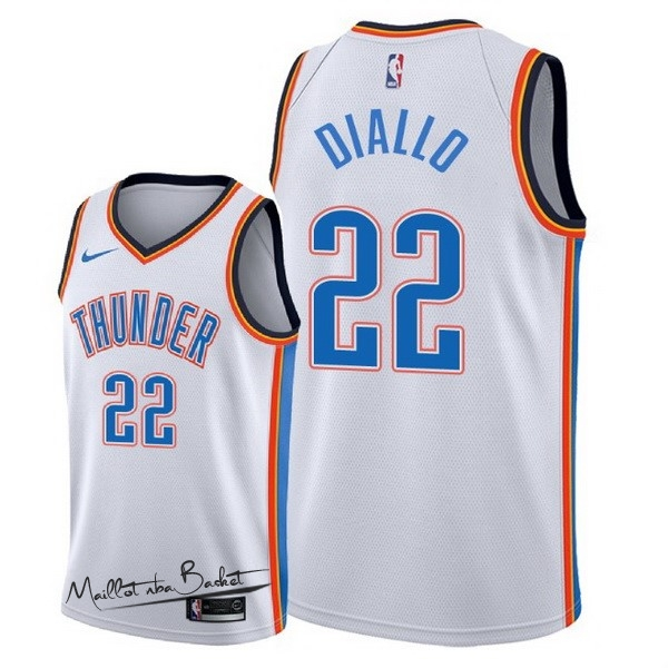Maillot NBA Nike Oklahoma City Thunder NO.22 Hamidou Diallo Blanc Association 2018