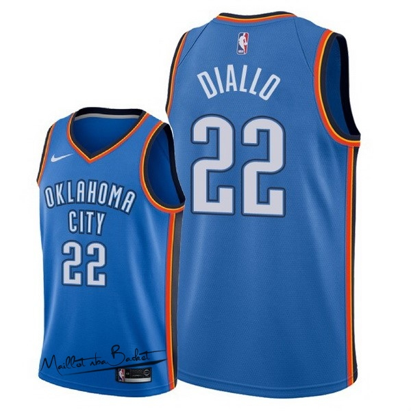 Maillot NBA Nike Oklahoma City Thunder NO.22 Hamidou Diallo Bleu Icon 2018