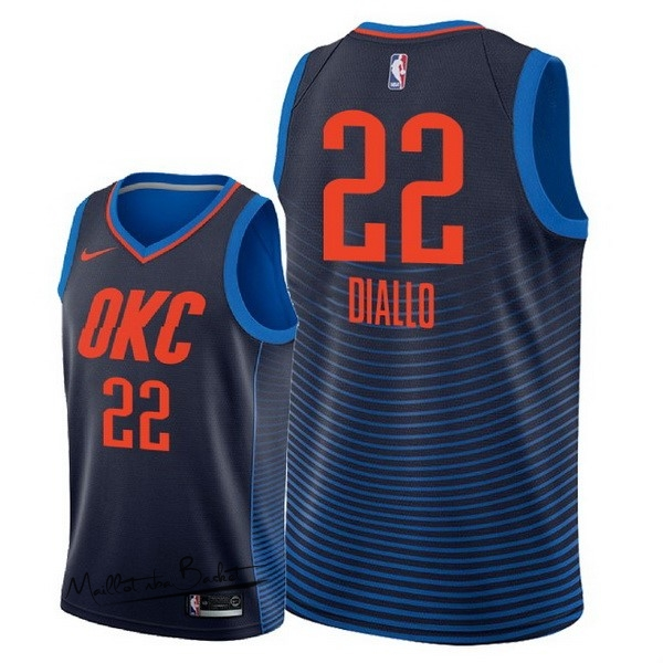 Maillot NBA Nike Oklahoma City Thunder NO.22 Hamidou Diallo Marine Statement 2018