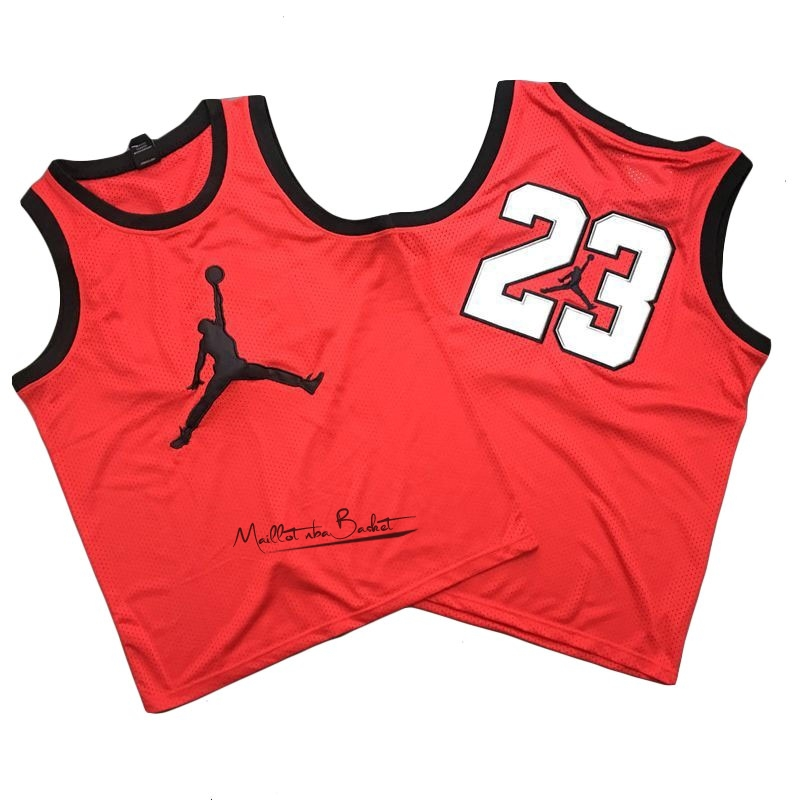 Maillot NBA Chicago Bulls NO.23 Michael Jordan Jordan Logo Rouge