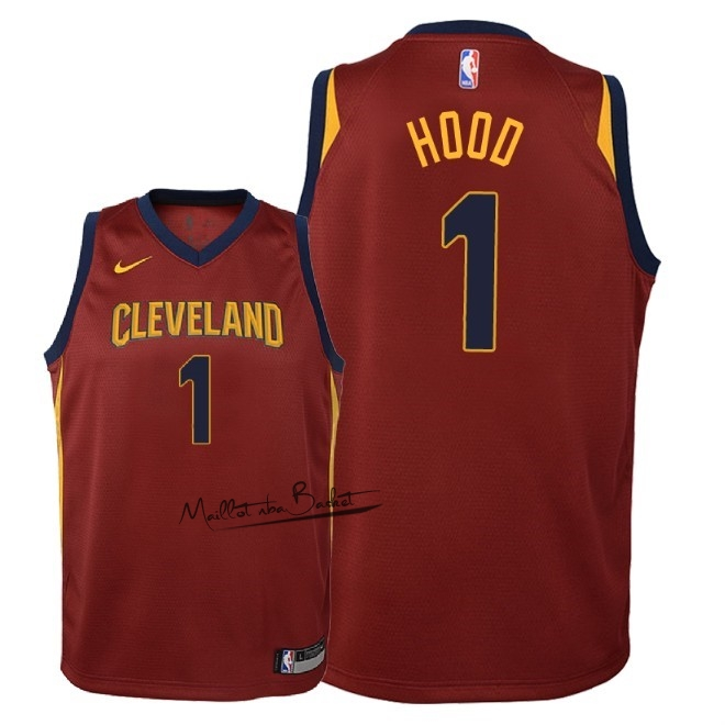 Maillot NBA Enfant Cleveland Cavaliers NO.1 Rodney Hood Rouge Icon 2018
