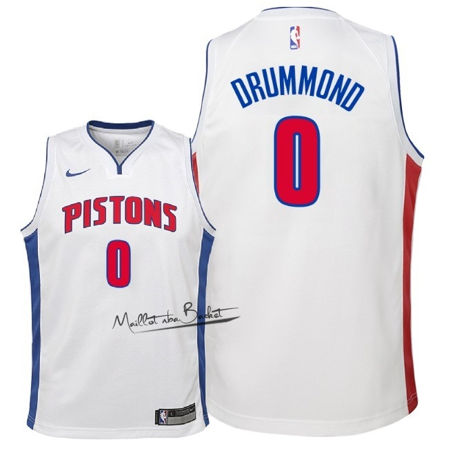 Maillot NBA Enfant Detroit Pistons NO.0 Andre Drummond Blanc Association 2018