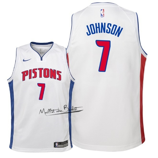 Maillot NBA Enfant Detroit Pistons NO.7 Stanley Johnson Blanc Association 2018