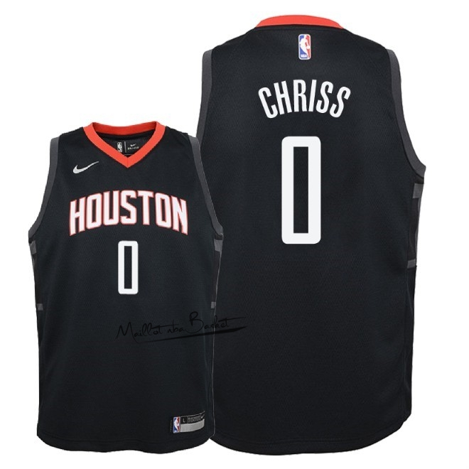 Maillot NBA Enfant Houston Rockets NO.0 Marquese Chriss Noir Statement 2018