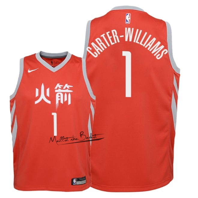 Maillot NBA Enfant Houston Rockets NO.1 Michael Carter Williams Nike Rouge Ville 2018
